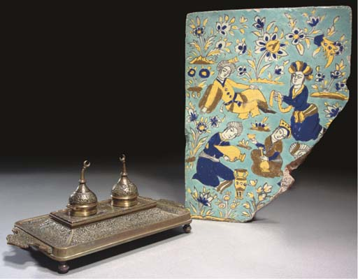 A Qajar tile section, early 20