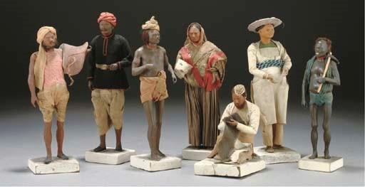 Seven various Indian terracott