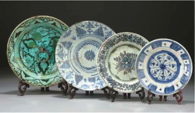 A Safavid blue and white plate