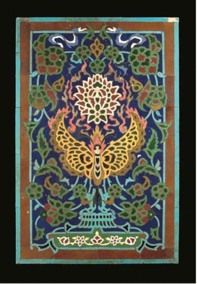A Qajar rectangular tile mosai