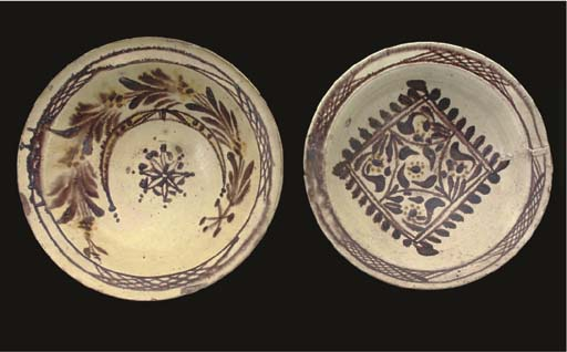 TWO CHANAKKALE POTTERY BOWLS,