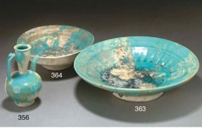A Nishapur turquoise glazed ew