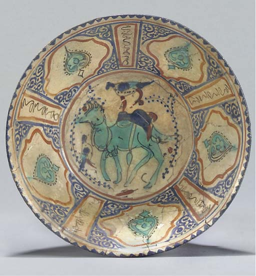 A Damascus pottery bowl, Centr