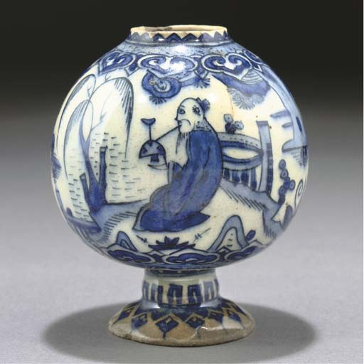 A BLUE AND WHITE CHINOISERIE V