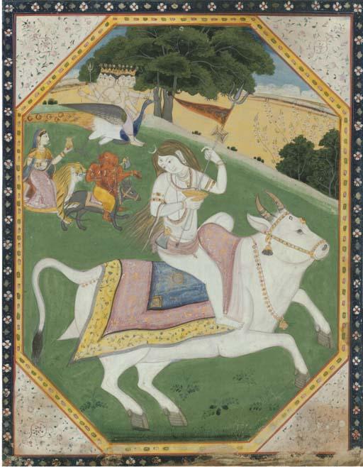 VISHNU MOUNTED ON NANDI WITH H