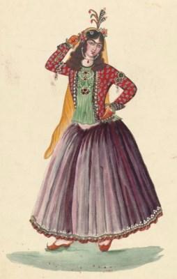 A LADY OF THE HAREM, QAJAR IRA