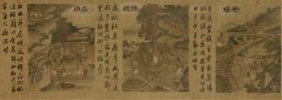 A large handscroll, 19th Centu