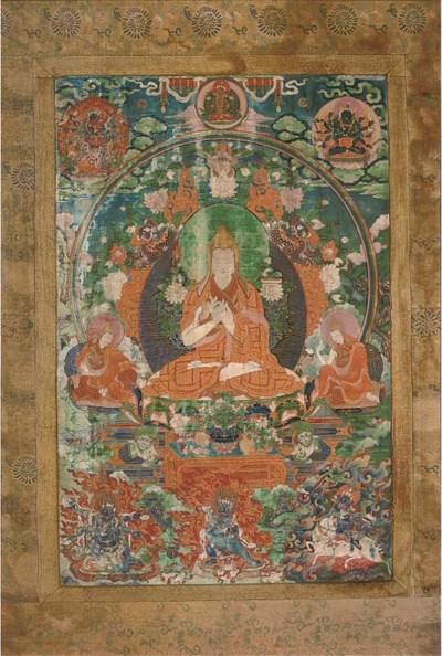 A Tibetan thanka, 19th century