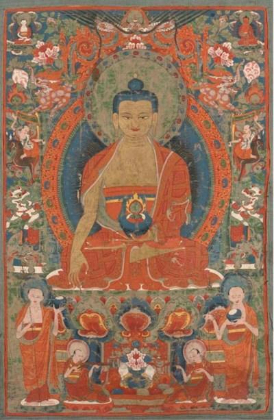 A Tibetan thanka, 18th/19th Ce
