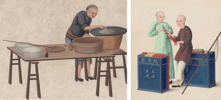 A pair of export paintings, 19