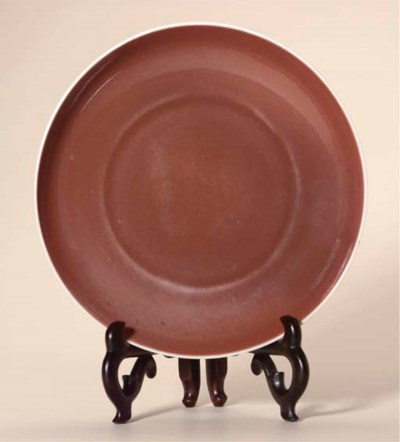 A copper-red-glazed saucer, 18