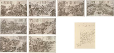 Eight engravings from the seri