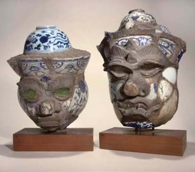 Two stoneware and porcelain de