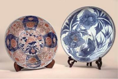 An Arita blue and white dish,