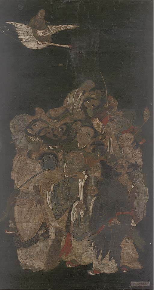 A Japanese painting, 18th Cent