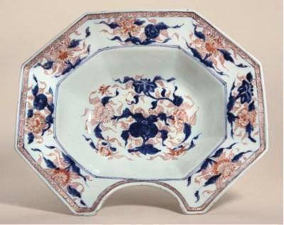 A Chinese Imari barber's bowl,