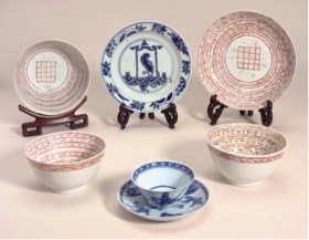 A blue and white small dish, Wanli