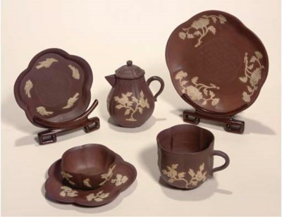 A group of Yixing pottery teaw
