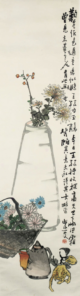 A hanging scroll, 20th Century