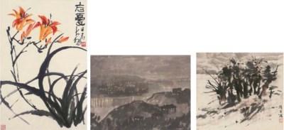 Three paintings, 20th Century