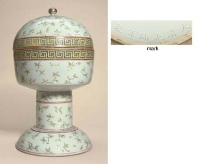 A famille rose altar vessel, d