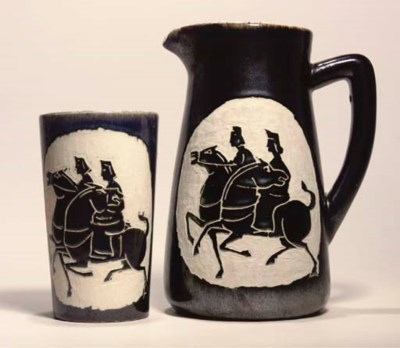 Shiy De Jinn, a pottery jug an