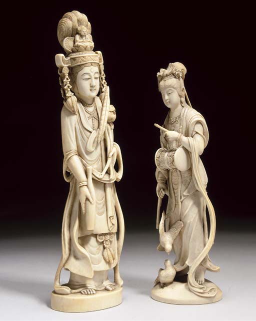 A Japanese ivory okimono of Ka