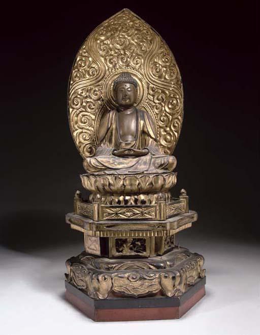 A Japanese gilt wood figure of