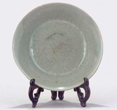A Korean moulded celadon stone