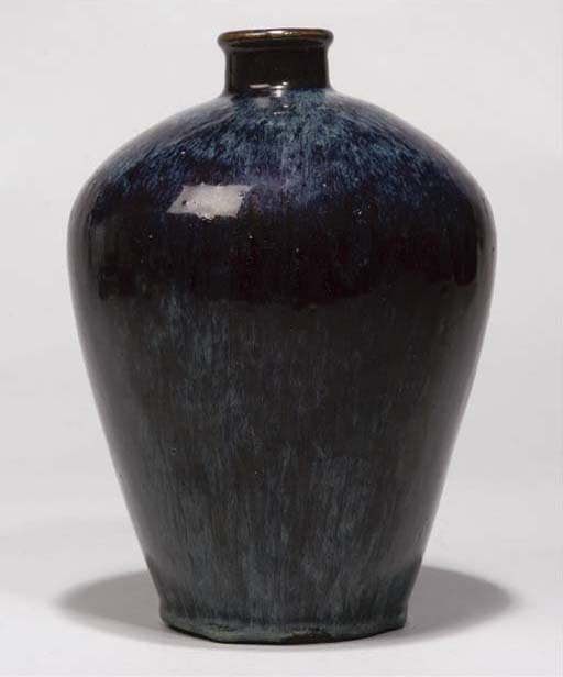 A Japanese flambe vase, 19th/2