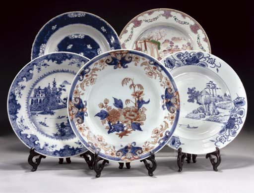 Seven Chinese export plates, 1