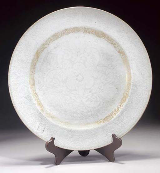 A Chinese export white glazed
