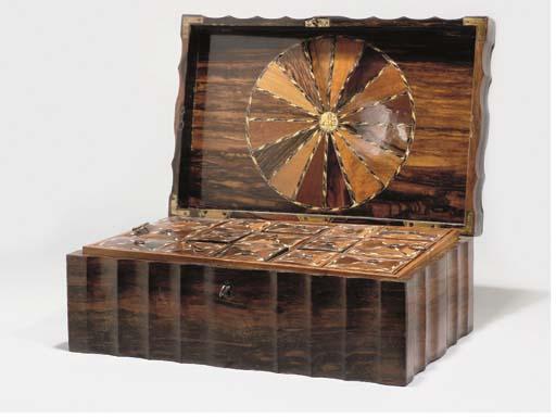 A CALAMANDER WORK BOX, PROBABL