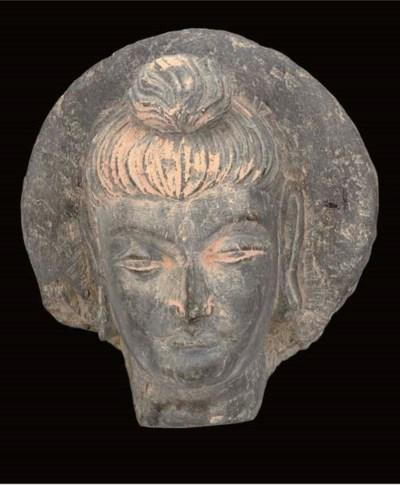 A Gandhara grey schist fragmen