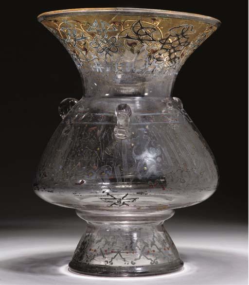 A MAMLUK STYLE ENAMELLED GLASS