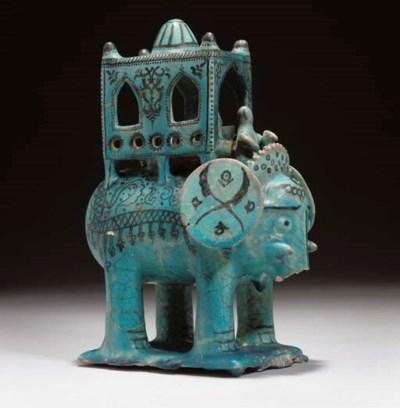 A Kashan-style turquoise glaze