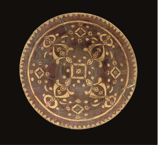 A MANGANESE GLAZED BOWL, POSSI