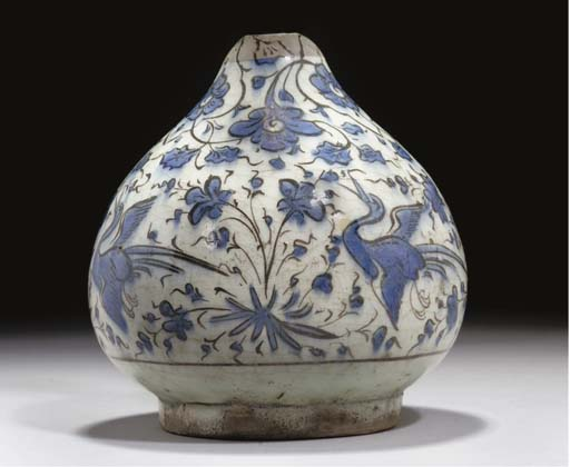 A SAFAVID BLUE AND WHITE SOFT