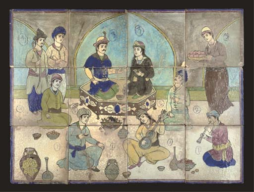 A TILE PANEL, IRAN, EARLY 20TH