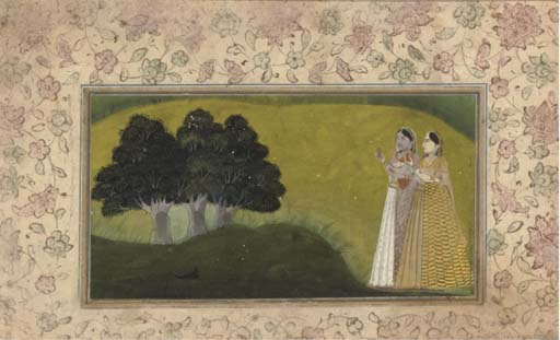 LADIES IN A LANDSCAPE, MUGHAL