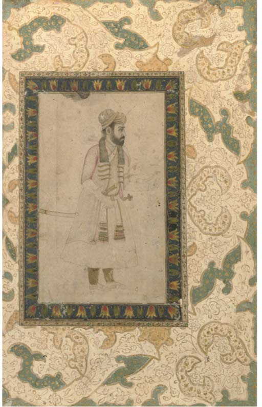 A PORTRAIT OF A MUGHAL COURTIE