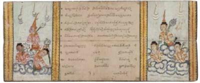 A Thai folding book, 19th Cent