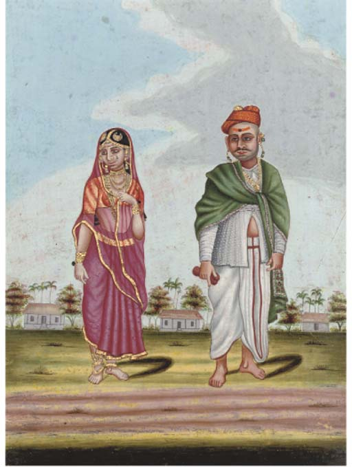 A WEALTHY HINDU AND HIS WIFE,