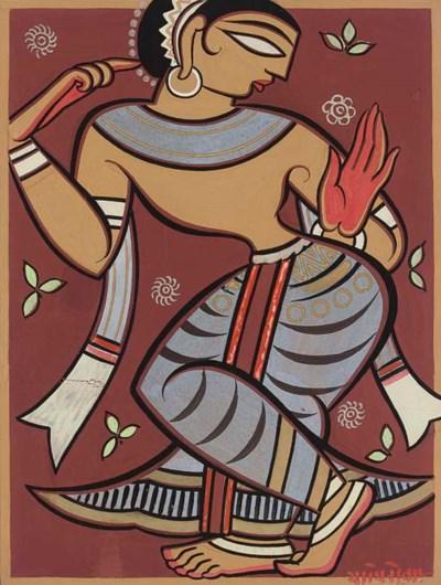 JAMINI ROY (1887-1972): DANCIN