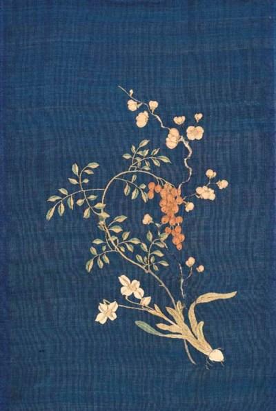 A KESI FLOWER SPRAY, 18TH CENT