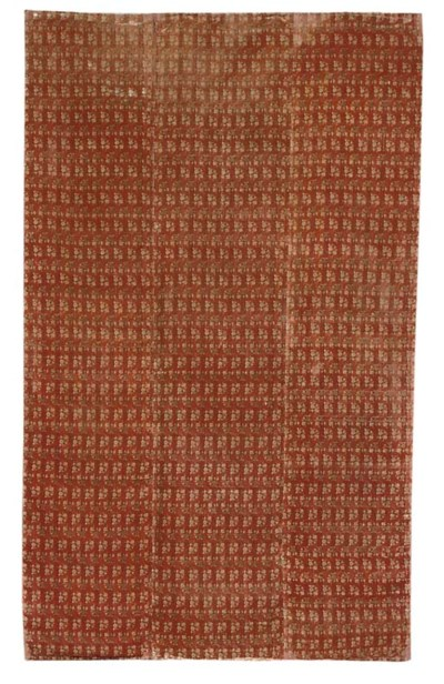 A LARGE PANEL OF BRICK RED VEL
