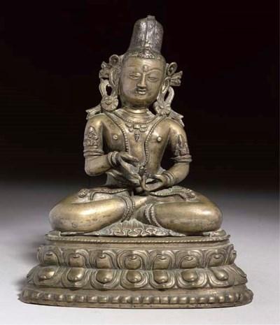 A Nepalese bronze figure of Va