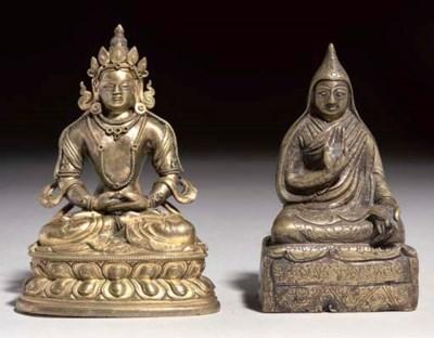 A Small Tibetan bronze figure