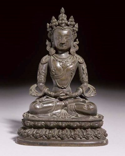 A Sino-Tibetan bronze figure o