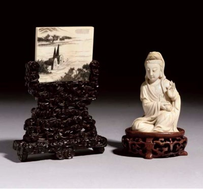 An ivory carving of Guanyin, 1